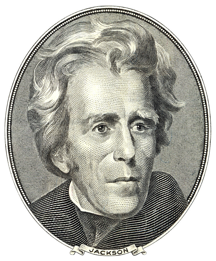 Portret van Andrew Jackson royalty-vrije stock fotografie