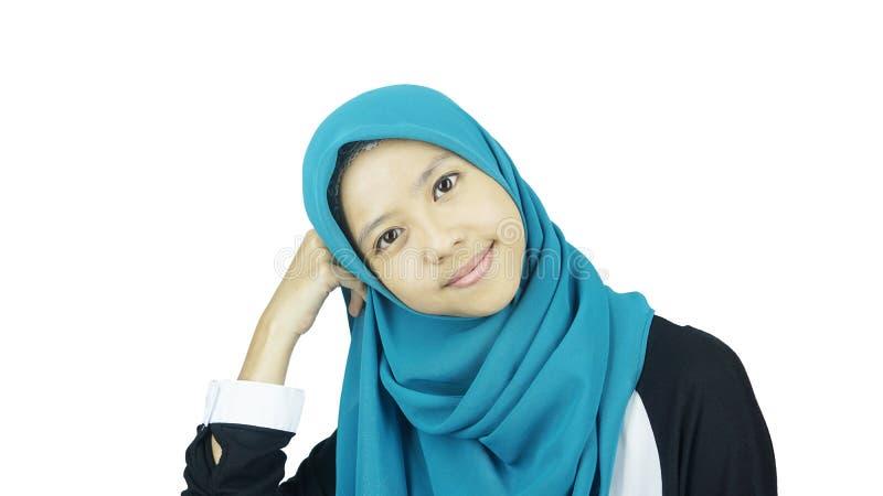 Portret van Aziatisch mohammedaans meisje royalty-vrije stock afbeeldingen