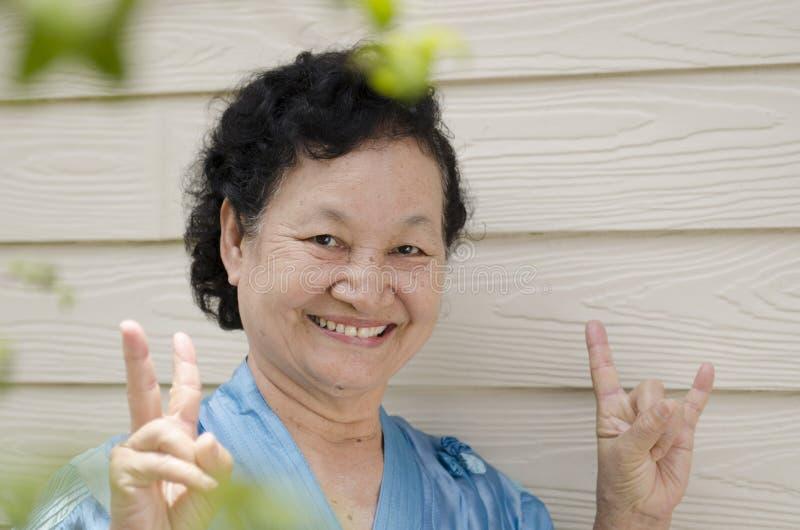 Portret van Aziatische bejaarden royalty-vrije stock fotografie