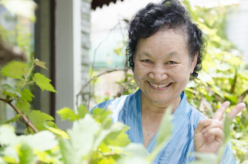 Portret van Aziatische bejaarden stock fotografie