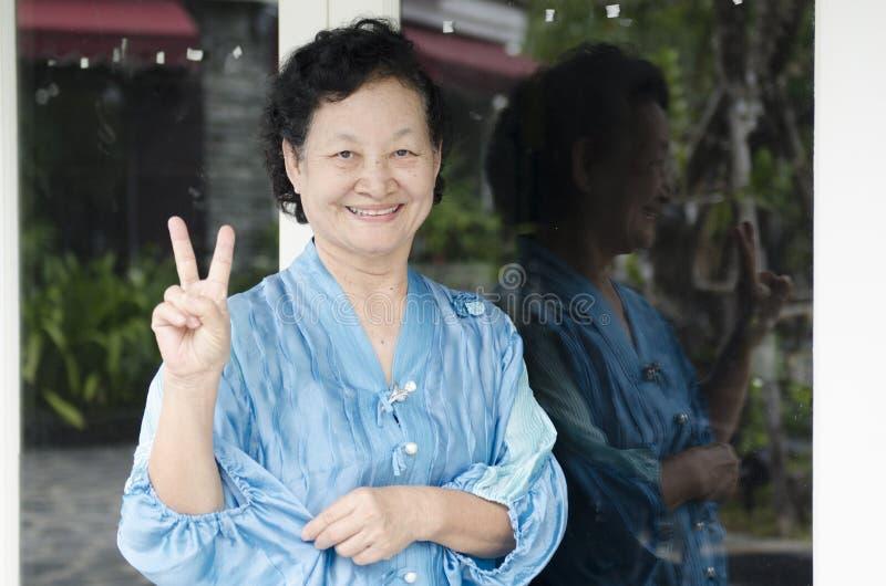 Portret van Aziatische bejaarden stock foto