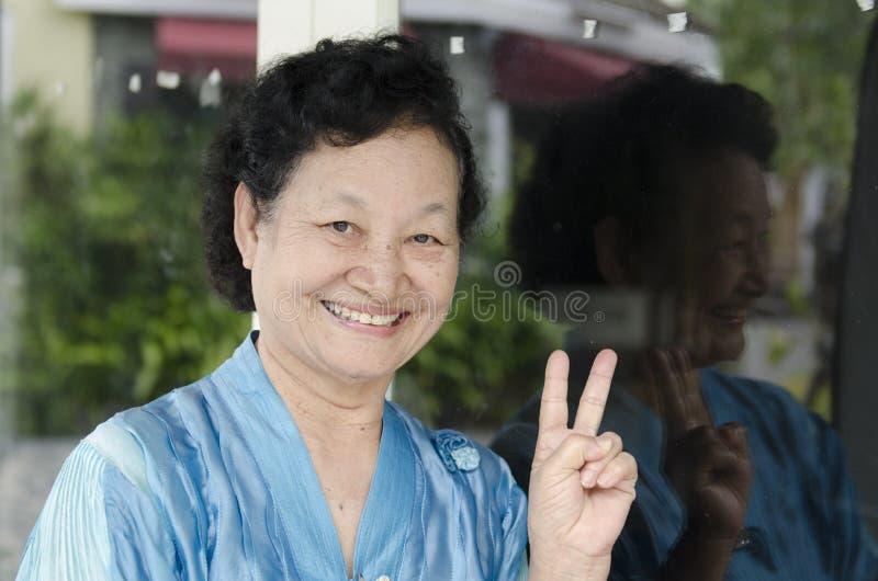Portret van Aziatische bejaarden royalty-vrije stock foto