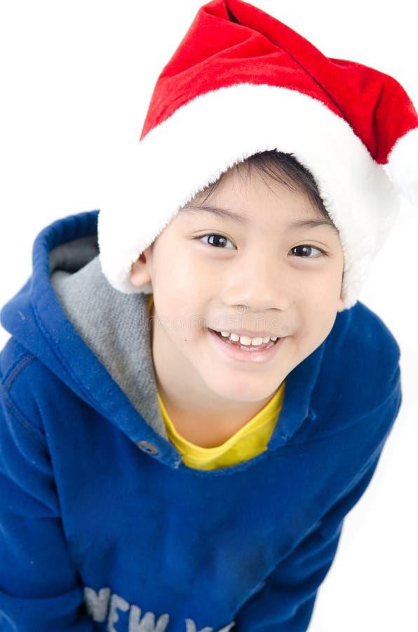 Portret van Aziatische leuke jongen stock foto