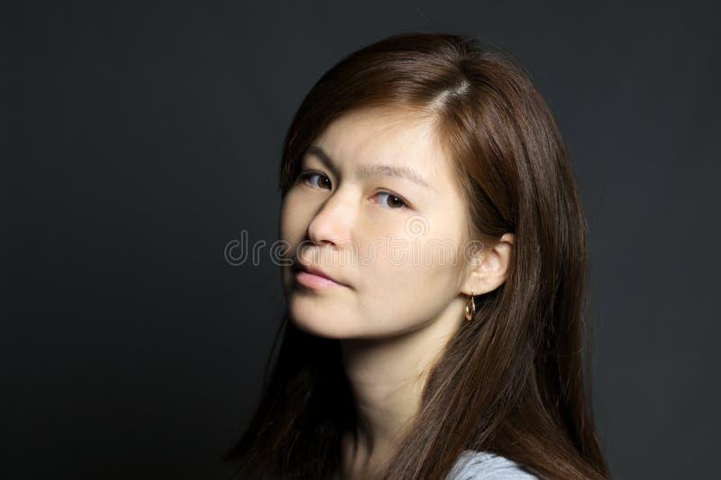 Portret van Aziatische vrouw royalty-vrije stock afbeelding