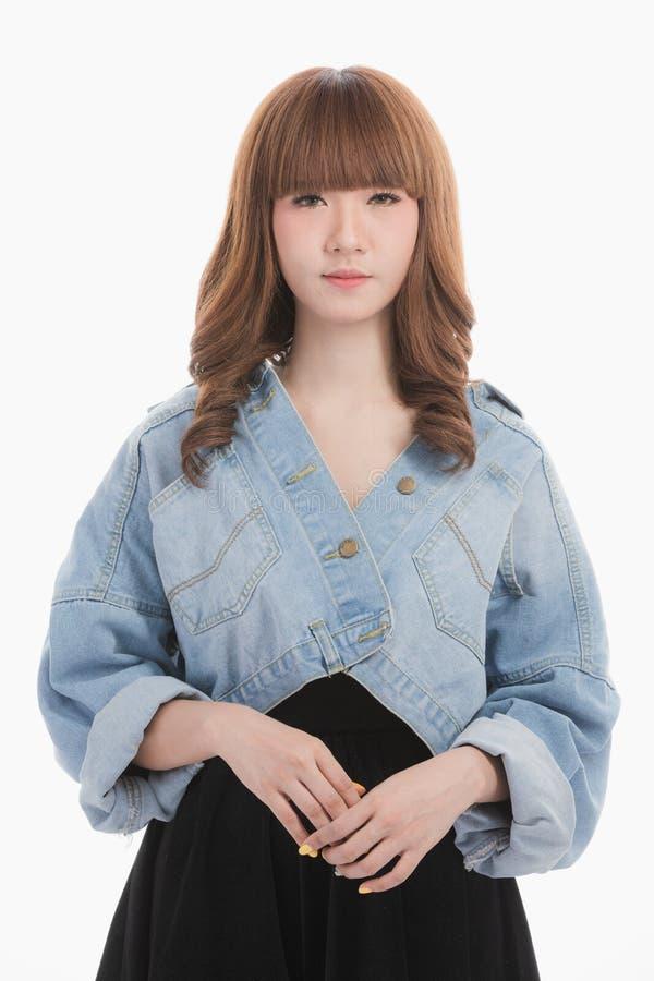 Portret van Aziatische vrouw stock afbeelding