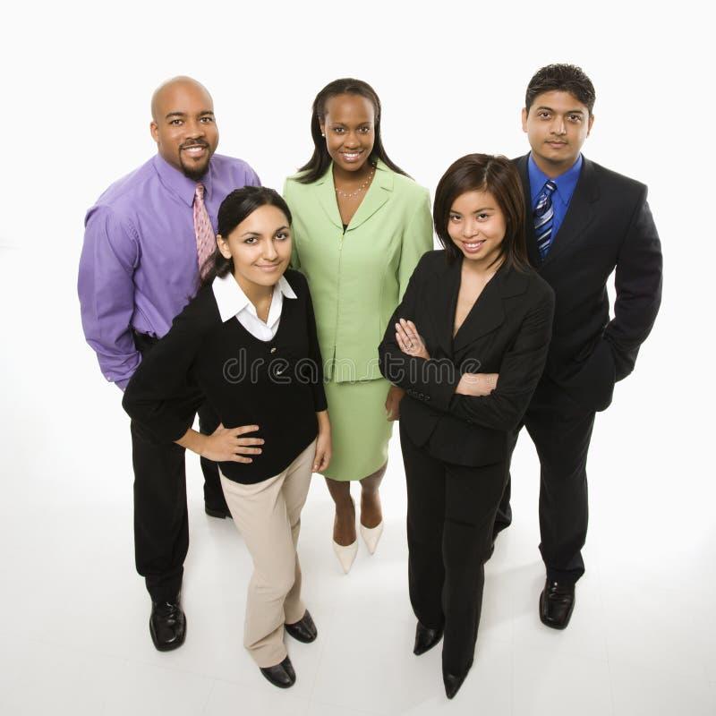 Portret van bedrijfsmensen status. stock afbeeldingen