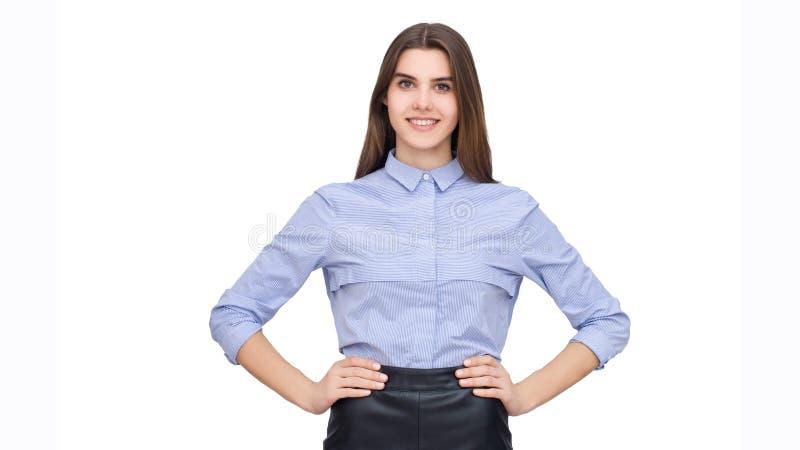 Portret van bedrijfsvrouw stock afbeeldingen
