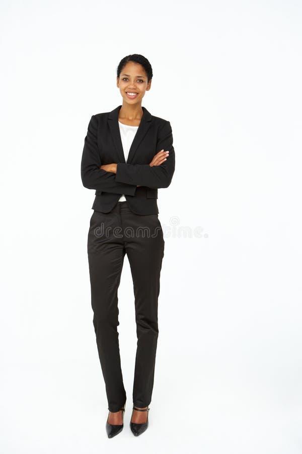 Portret van bedrijfsvrouw in kostuum royalty-vrije stock afbeelding