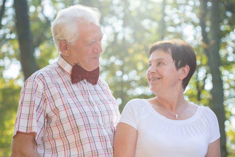 Portret van bejaard gehouden van paar stock fotografie