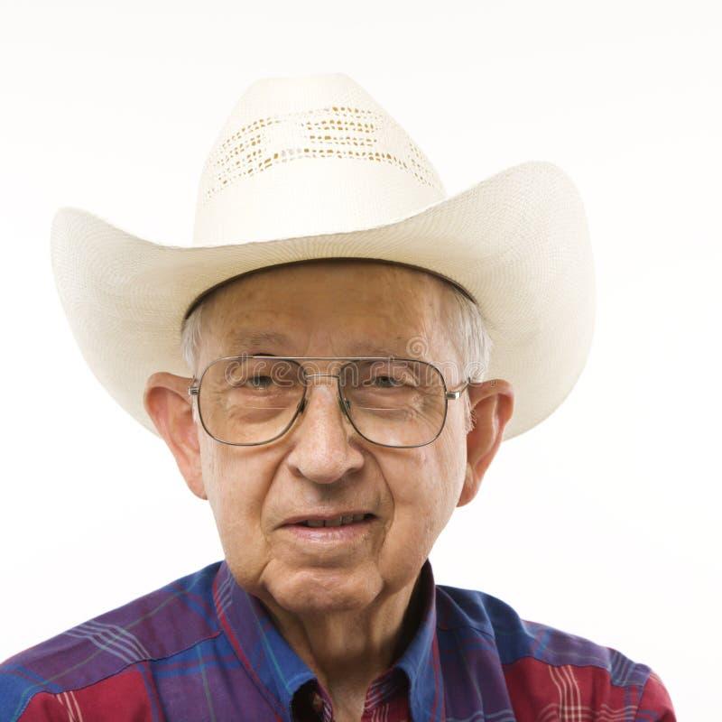Portret van bejaarde royalty-vrije stock foto