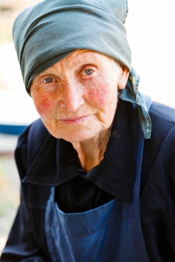 Portret van Bejaarde Dame royalty-vrije stock afbeeldingen