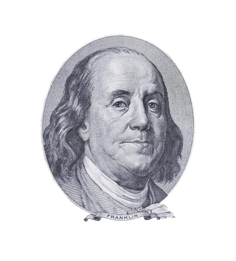 Portret Van Benjamin Franklin Royalty-vrije Stock Afbeeldingen