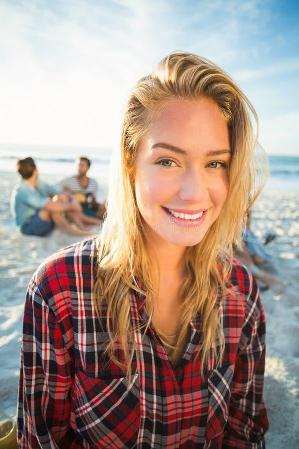 Portret van blonde vrouw royalty-vrije stock foto