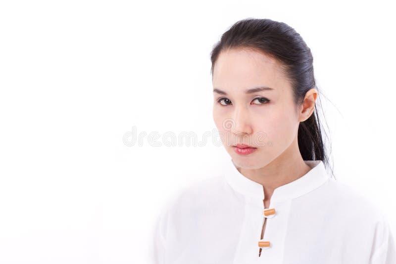 Portret van boze vrouw royalty-vrije stock foto