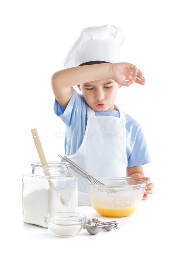 Portret van chef-kokjongen stock foto