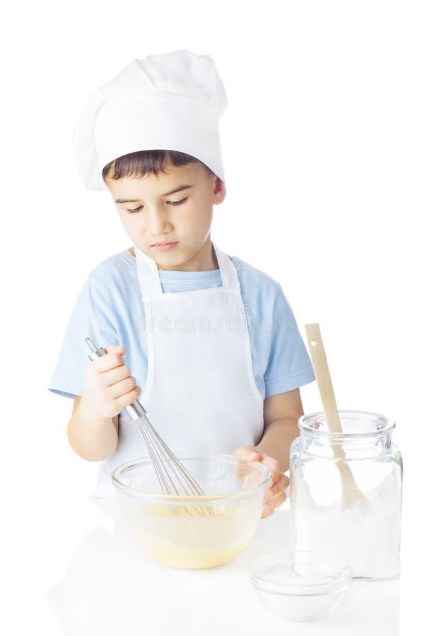 Portret van chef-kokjongen stock afbeeldingen