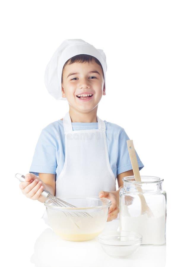 Portret van chef-kokjongen royalty-vrije stock afbeeldingen
