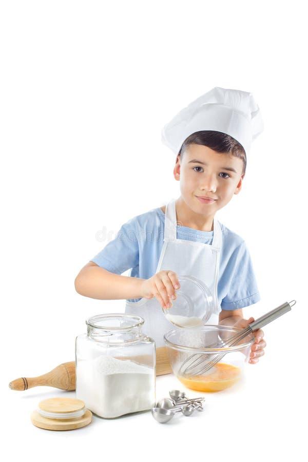Portret van chef-kokjongen royalty-vrije stock afbeelding