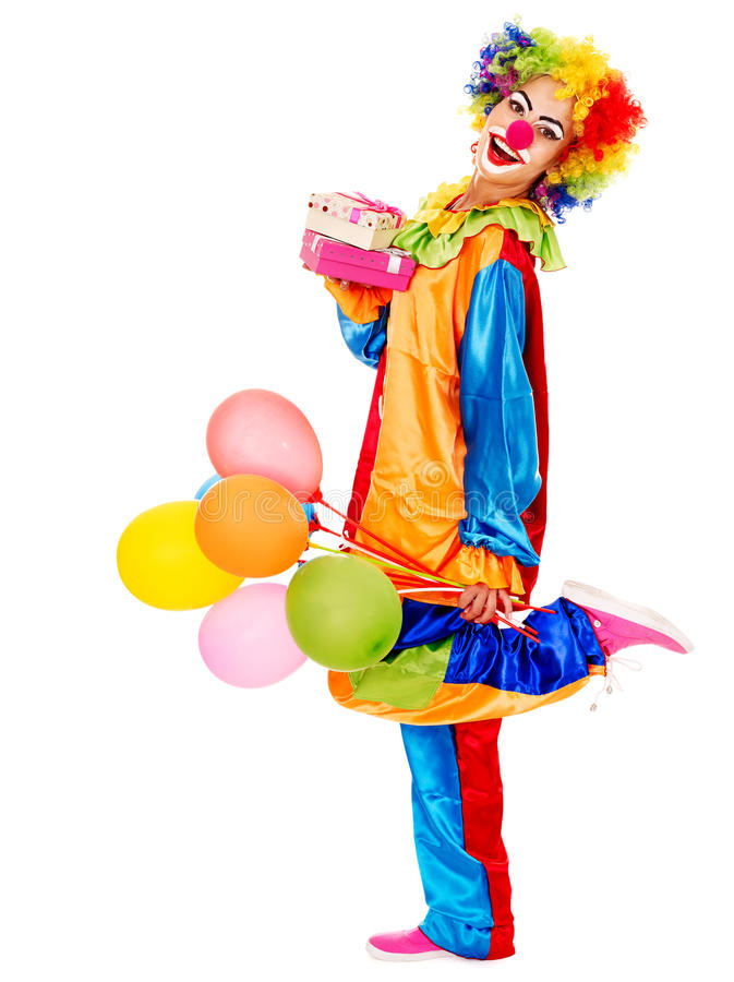 Portret van clown. royalty-vrije stock foto