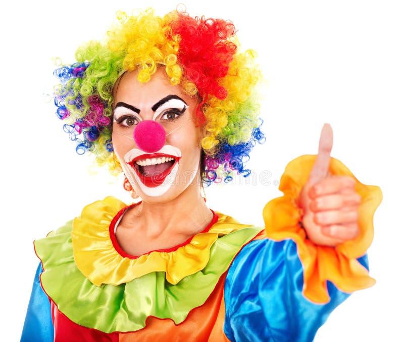 Portret van clown. stock fotografie