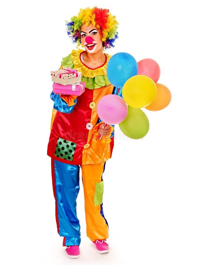 Portret van clown stock foto