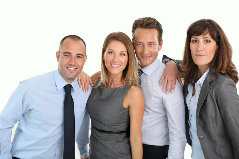 Portret van commercieel team stock foto