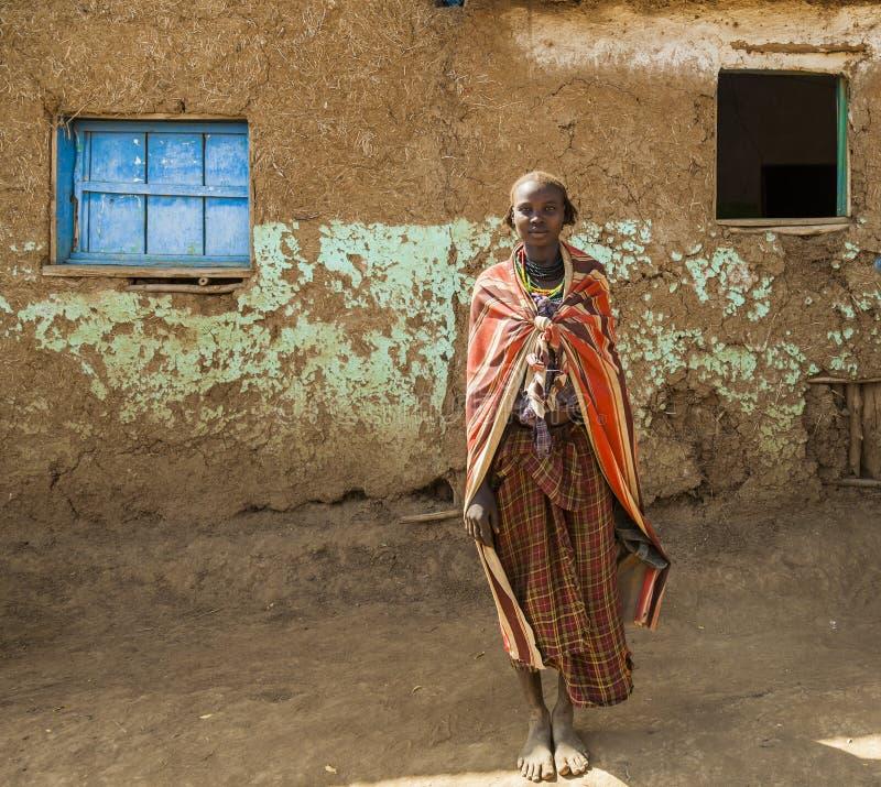 Portret van Dassanech-meisje Omorato, Ethiopië stock fotografie