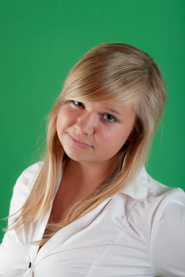 Portret van de aardige blonde royalty-vrije stock afbeeldingen