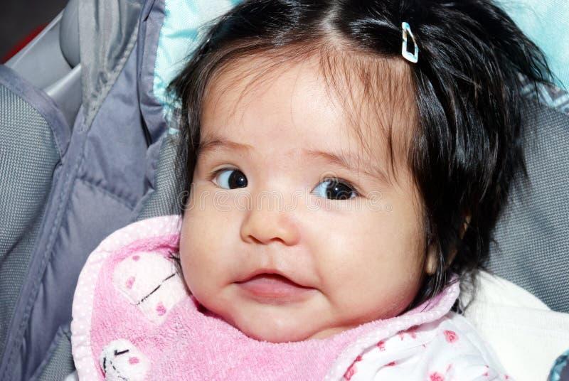 Portret van de aardige Latijns-Amerikaanse baby royalty-vrije stock afbeelding