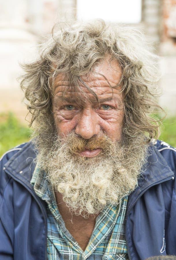 Portret van de bejaarde. royalty-vrije stock foto's