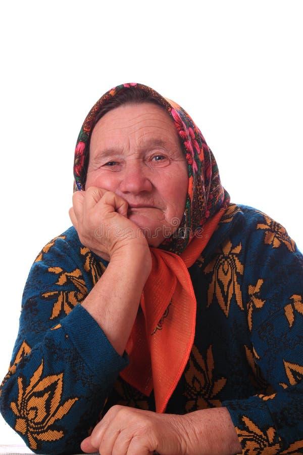 Portret van de bejaarde royalty-vrije stock foto
