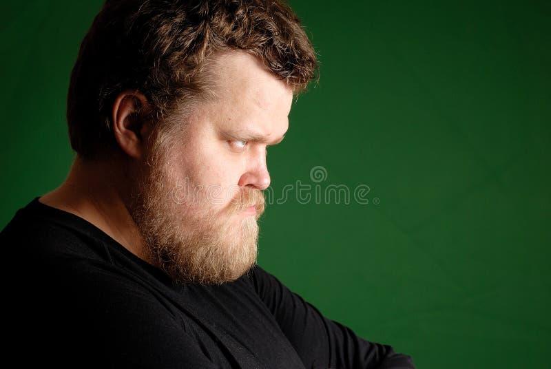 Portret van de boze mens royalty-vrije stock afbeelding