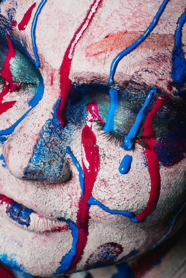 Portret van de close-up het hoge manier van een mooi meisje stock foto's