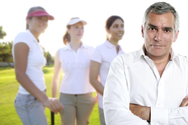 Portret van de de golfspelermens van het golf het hogere royalty-vrije stock afbeeldingen