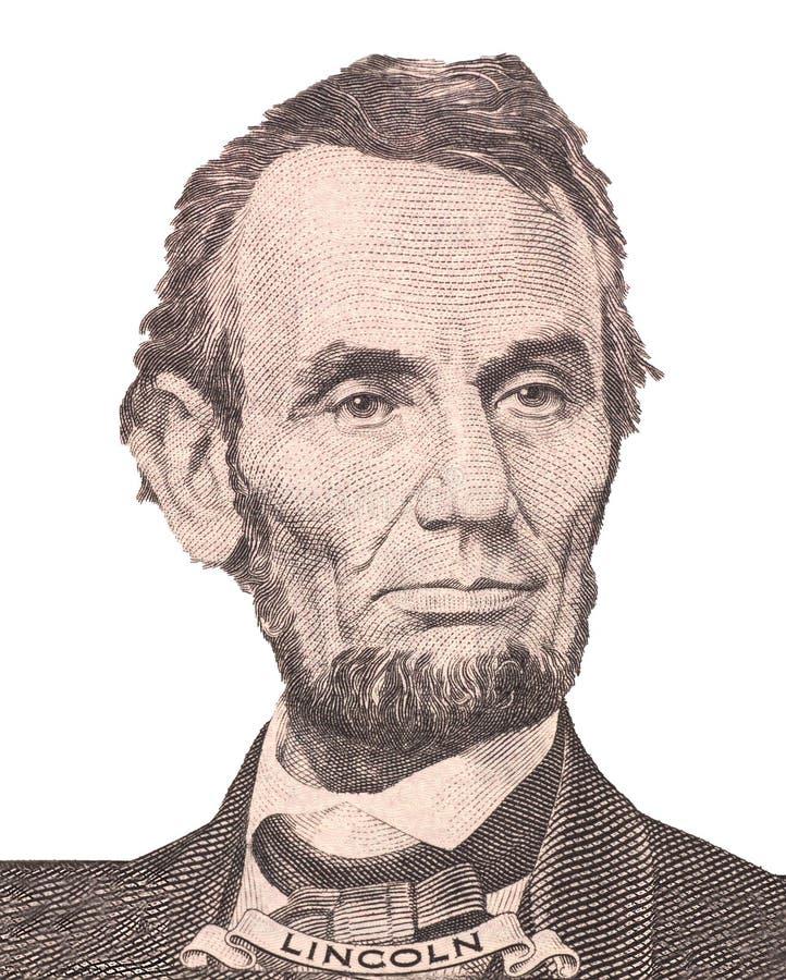 Portret van de eerste V S President Abraham Lincoln royalty-vrije stock afbeelding