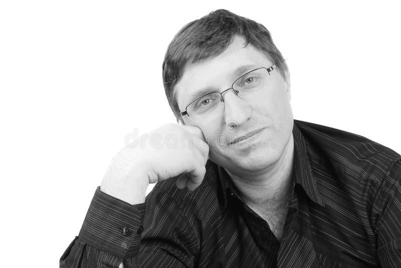 Portret van de hansome mens stock foto