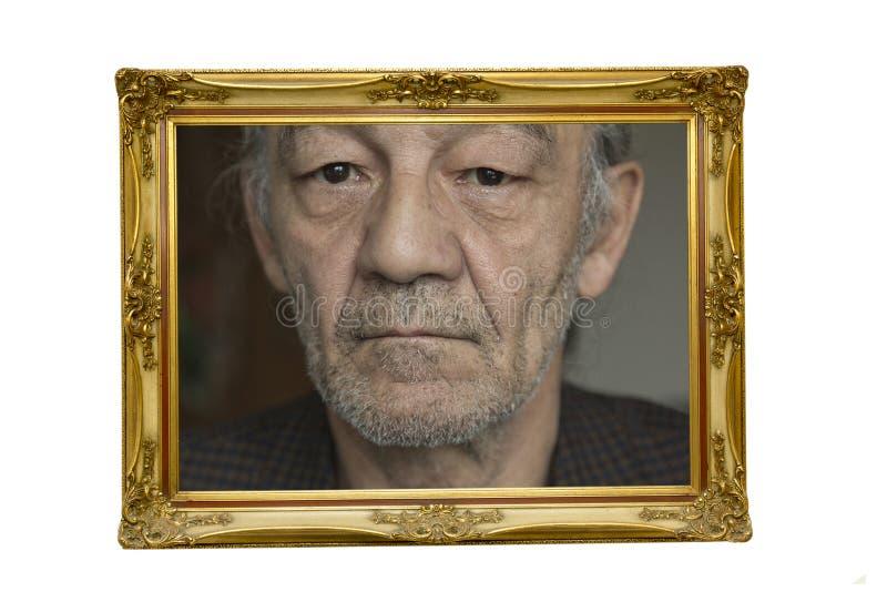 Portret van de hogere man royalty-vrije stock foto