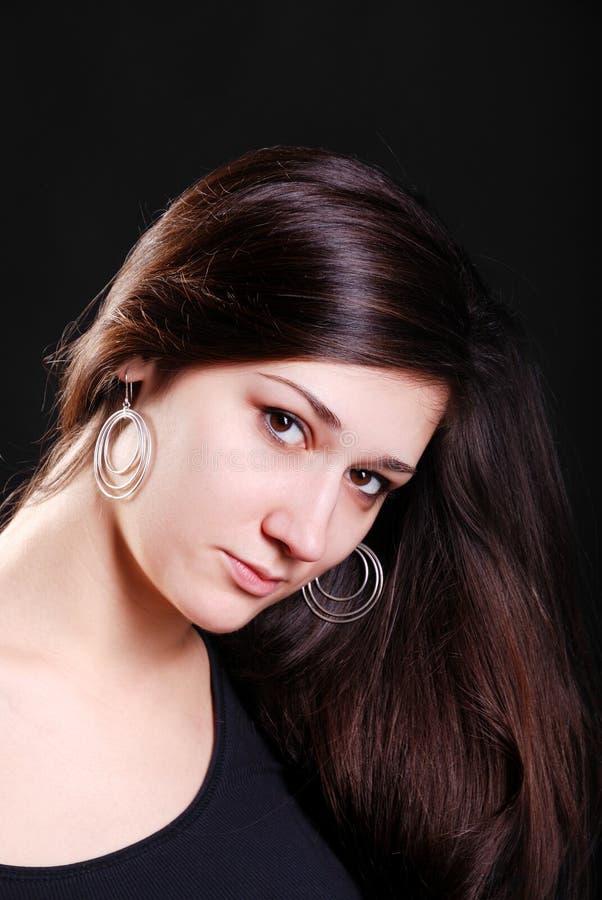 Portret van de jeugdvrouw. stock fotografie