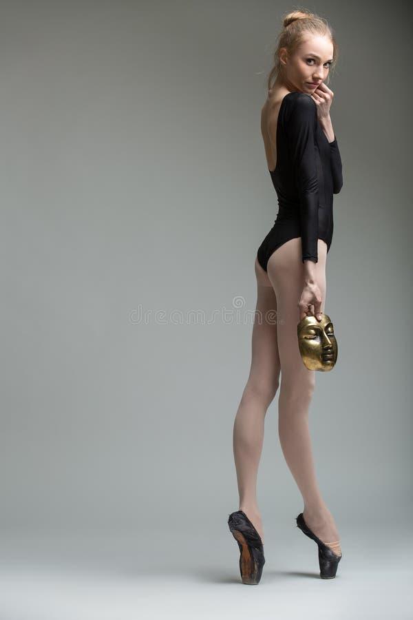 Portret van de jonge bevallige ballerina royalty-vrije stock foto