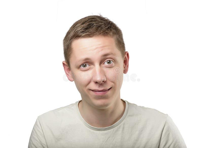 Portret van de jonge grappige mens stock foto's
