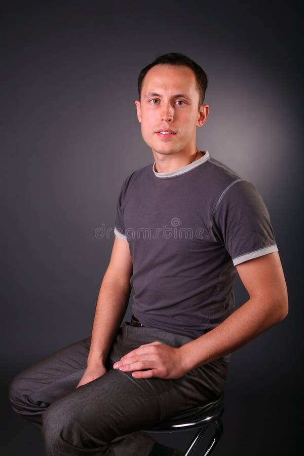 Portret van de jonge mens   royalty-vrije stock afbeeldingen