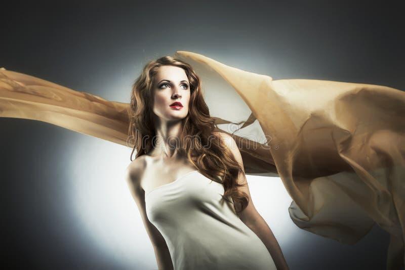 Portret van de jonge seksuele vrouw royalty-vrije stock foto