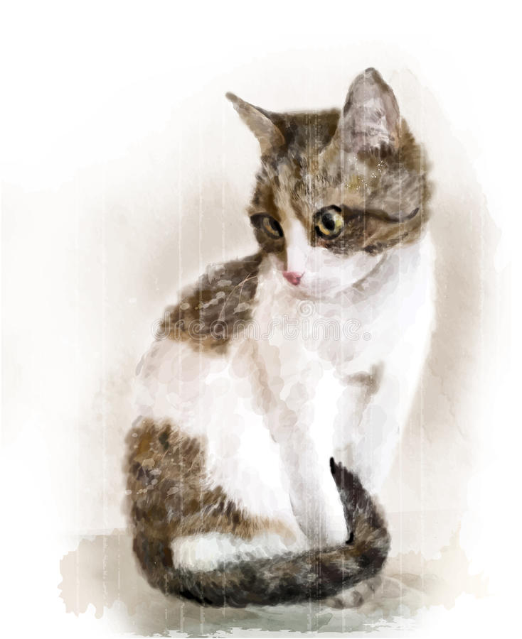 Portret van de kat vector illustratie