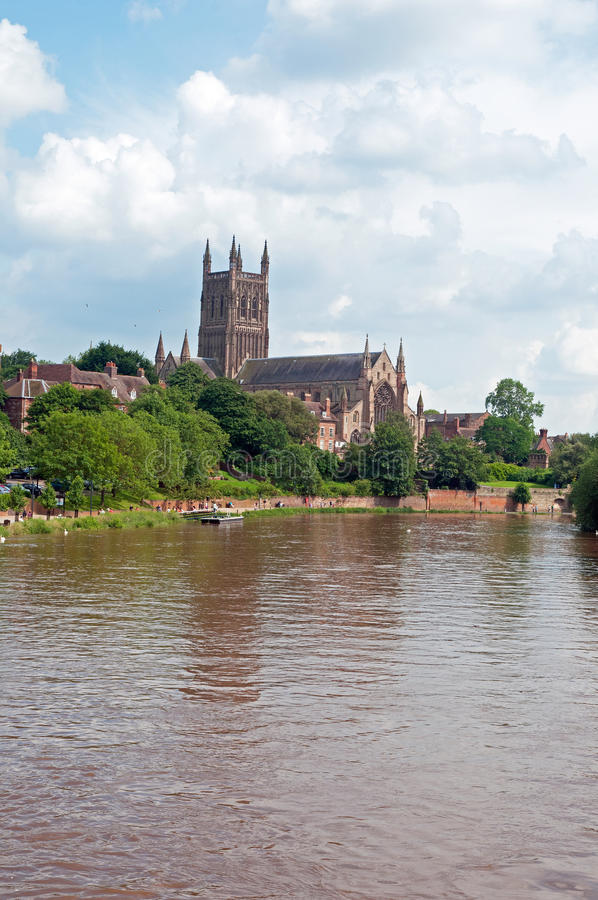 Portret van de kathedraal van Worcester royalty-vrije stock afbeeldingen