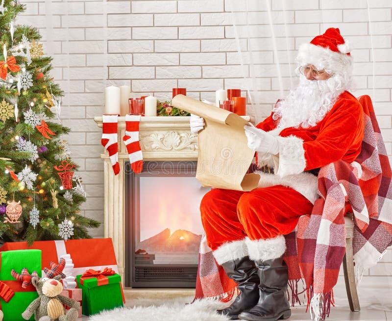 Portret van de Kerstman stock foto