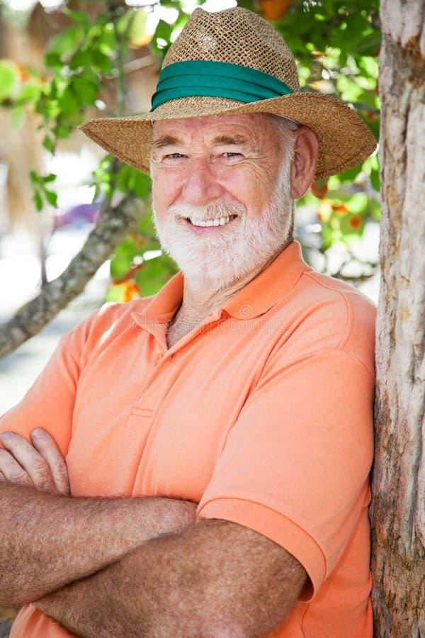 Portret van de Knappe Hogere Mens royalty-vrije stock foto's