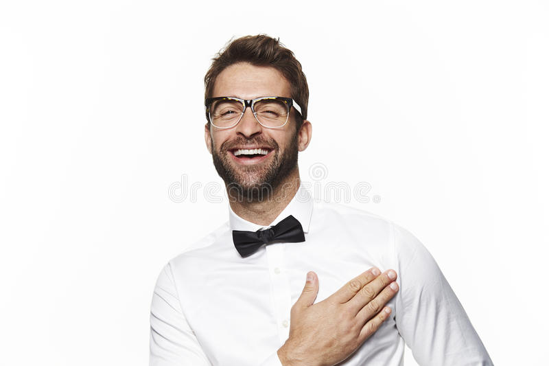 Portret van de knappe mens stock foto