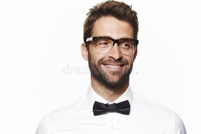 Portret van de knappe mens stock afbeelding
