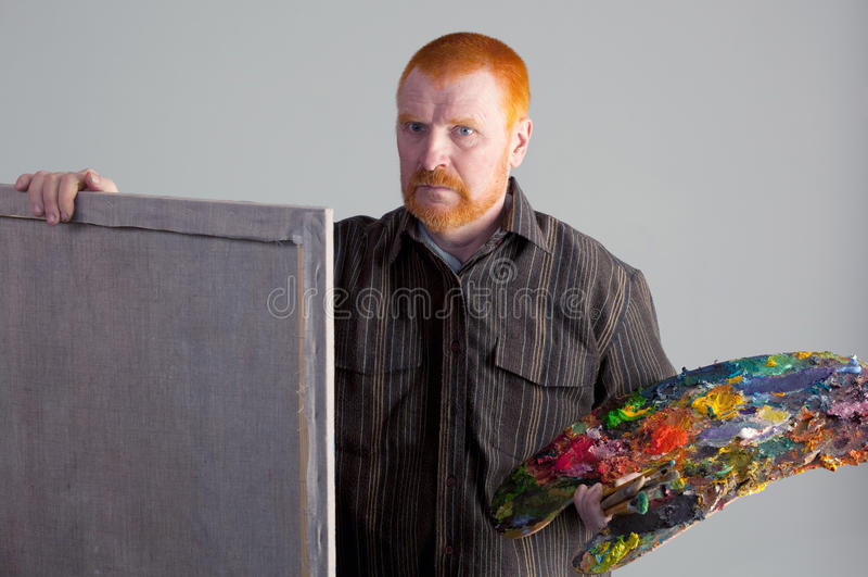 Portret van de kunstenaar royalty-vrije stock foto's