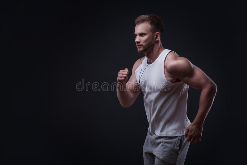Portret van de lopende mens stock foto